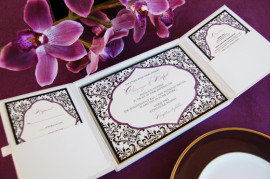 laurel_luxury_silk_box_wedding_invitation_ivory_purple_set_gatefold
