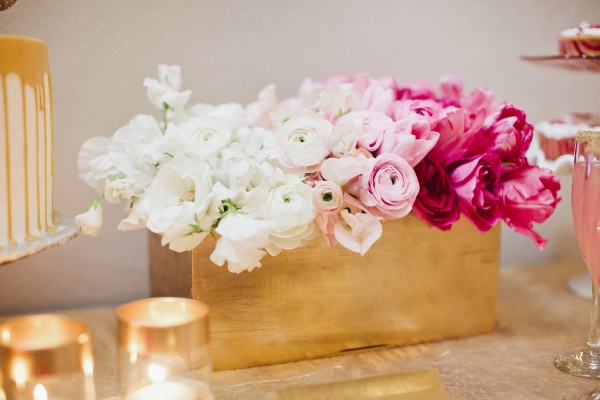 Wedding Flowers Pink And Gold : Pink gold wedding ideas